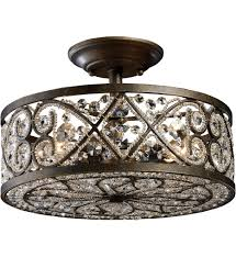 elk lighting 11286 4 amherst antique bronze 13 inch 4 light semi undefined