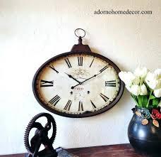 threshold wall clock wall clock rustic rustic metal oval wall clock rustic wall clock threshold wall