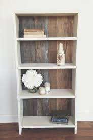 cheap reclaimed wood furniture. rustic reclaimed wood bookshelf makeover old laminate shelving with paint and pallets cheap furniture h