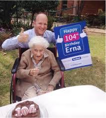 Happy 104th. birthday to Erna Kaplan