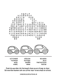 Kleurplaat Woorden Zoeken Kleurboek Spelletjes