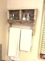 Towel Racks With Hooks Bathroom Rack And Shelf Natural Wood Bar