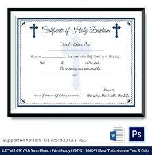 Sample Baptism Certificate Template Inspiration Baptism Certificates Templates Free Editable Certificate Template