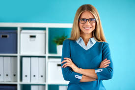 image professional office. Smiling Business Woman Standing In Office With Crossed Arms Image Professional