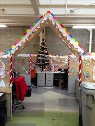 christmas decorations for office. Gingerbread Cubical Decorating - 1st Place Christmas Decorations For Office A