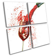 wine glass pouring food kitchen multi canvas wall art picture print va ebay on wine canvas wall art uk with wine glass pouring food kitchen multi canvas wall art picture print