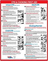 Amazon Com Choking And Cpr Poster For Restaurant Baby