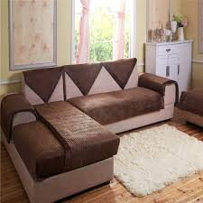three seater sofa cover cow print para sofas sofas universal i shaped sofa cover flannel armrest