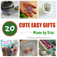 20 Easy Kid Made Christmas Gifts