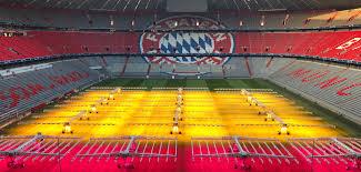 Bayern Munich Stadium Lights Allianz Arena First To Use Led Lights To Grow Turf Stadia