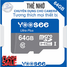 Thẻ nhớ YooSee chính hãng - 64GB tốc độ cao C10