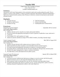 Sample Of Effective Resume Call Center Resume Sample Best Of