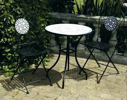 small metal patio table round outdoor coffee