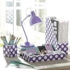 Desk Accessories, Desk Organizers U0026 Dorm Accessories | PBteen Purple Desk,  Purple Office,