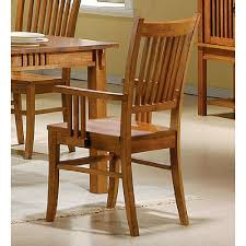 mission look arm chair set of 2 by coaster furniture