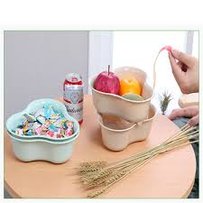 double wash vegetables drain fruits plastic kitchen fruit dish