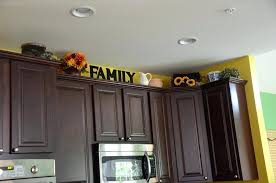 Above Kitchen Cabinet Decorations New Decoration