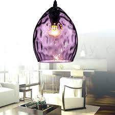 purple pendant light captivating vintage glass lights lampshade large shade lamp