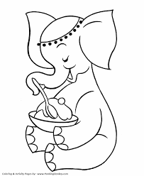 Small Picture Pre K Coloring Pages Free Printable Elephant Pre K Coloring page