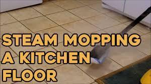 Best Mop For Kitchen Floor Steam Mopping A Kitchen Floor Youtube