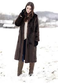 sable signature full length faux fur coat 3