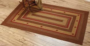 large rectangular braided star area rug