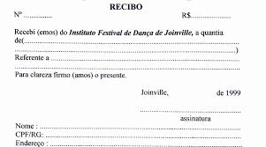 Modelo De Recibo Modelos De Recibos 17 Festival De Dança De Joinville Instituto