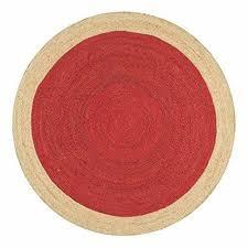braided rug handmade jute floor mat red round floor rugs120x120cm free ship