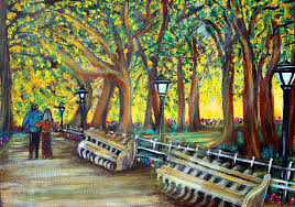 central park painting central park by laura barbosa