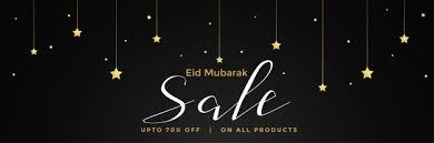 Eid Mubarak Sale Dark Banner Template Design Vector Free Download