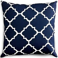 navy throw pillows. Delighful Navy Utopia Bedding Decorative Square 18 X Inch Throw Pillows Navy U0026 White  Moroccan Quatrefoil Lattice Cushion Pillow In