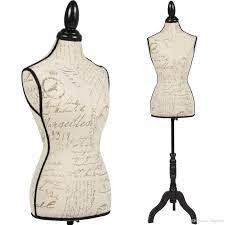 Torso femenino del maniquí la forma del vestido Display W / Negro Trípode  Patrón Stand de diseño 2021 Desde luluge998, 36,54 € | DHgate Móvil