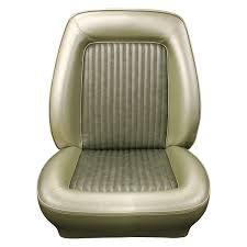distinctive industries standard touring style front low back bucket seat upholstery ivy gold