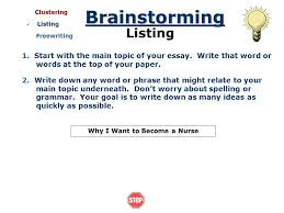 brainstorming getting ideas before you write introduction getting  start the main topic of your essay