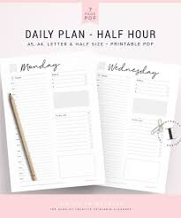 Action Day Planner Template Daily Planner 1 Printable Page Created By