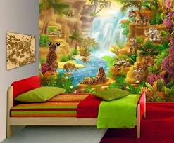 jungle wallpaper for kids.  For Custom Beautiful Wild Animals Jungle Wall Stickers For Kids Room Intended Jungle Wallpaper For Kids O