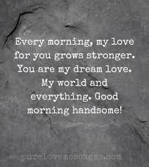 52 sweet good morning messages for him