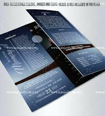 Wedding Brochure Templates Free Business To Download Funeral Program
