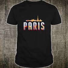70s T Shirt Design Official Paris City France 70s Style Retro Vintage Souvenir