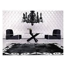 reduced patchwork cowhide rug k 155 black silver