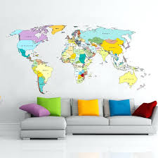 world map wall decal printed world map vinyl wall sticker vinyl impression wall stickers designed to world map wall decal