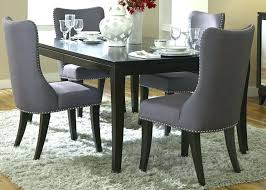 brilliant studded dining room set dark grey dining chairs com accent studded dining