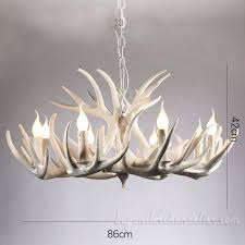 9 3 elk pure white antler chandelier living room lighting fixtures for designs 2