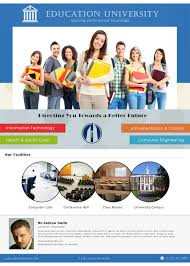 University Brochure Template Free University Brochure Templates 6