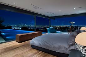 beautiful bedrooms with a view. Bedroom Interior And Amazing View At Modern Hopen Place House In The Hollywood Hills By Whipple Russell Architects Beautiful Bedrooms With A O
