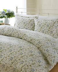 laura ashley spring bloom flannel duvet cover set