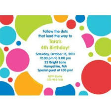 Polka Dot Invitations Polka Dot Party Personalized Invitation Each