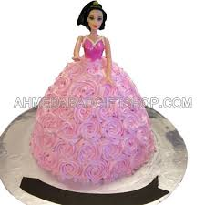 Barbie Doll Cake Princess Cake In Ahmedabad