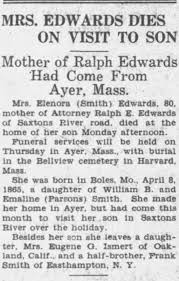 Elnora SMITH Edwards dies. - Newspapers.com