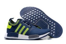 adidas shoes nmd green. adidas originals nmd runner primeknit men running shoes blue fluorescent green larger image nmd